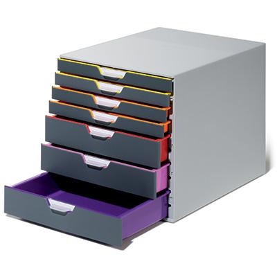 Cassettiere Per Ufficio Plastica.Cassettiera Varicolor 7 Cassetti Cassettiere Per Ufficio Durable
